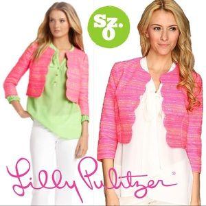 Lilly Pulitzer Wonda Neon Pink Metallic Crop